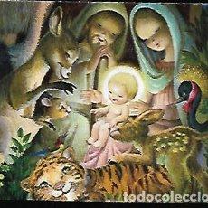 Postales: FELICITACION NAVIDAD FERRÁNDIZ * NACIMIENTO, CON ANIMALITOS * 1969( 14 X 11) *. Lote 158853114