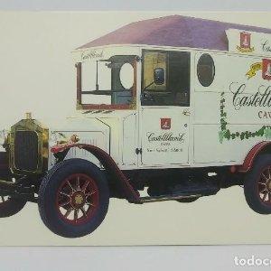 Castellblanch Cava camión antiguo. Felicitación navideña. 10x15,5 cm