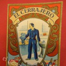 Postales: EL CERRAJERO FELICITACIÓN-AGUINALDO. MUY ANTIGUA. . Lote 159536574