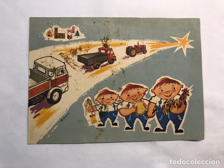 TOMELLOSO (CIUDAD REAL) FELICITACIÓN NAVIDEÑA. CONCESIONARIO CLAUDIO. AUSTIN O PEGASO (H.1960?) (Postales - Postales Temáticas - Navidad)