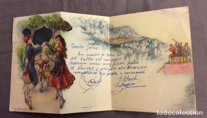 Postales: POSTAL TROQUELADA. FREIXAS M.C. 29 . ESCRITA AÑOS 50-60 - Foto 2 - 160450022
