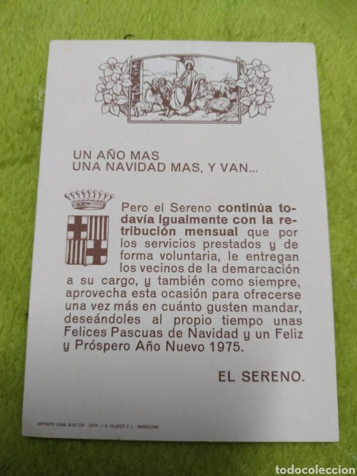 Postales: Postal o Felicitacion targeta Navidad Sereno 1975 Barcelona - Foto 2 - 160659509