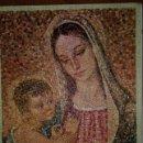 Postales: 0877M - VIRGEN CON NIÑO-TÉCNICA SIMILAR MOSAICO FLORENTINO GOFRADO - DIPTICA 16,8X11,8 CM. Lote 160670078