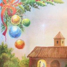 Postales: FELICITACIÓN NAVIDAD POSTAL DIORAMA TROQUELADO Y GRAN RELIEVE ANTIGUO AÑOS 80, TAMAÑO CERRADA. Lote 161220558