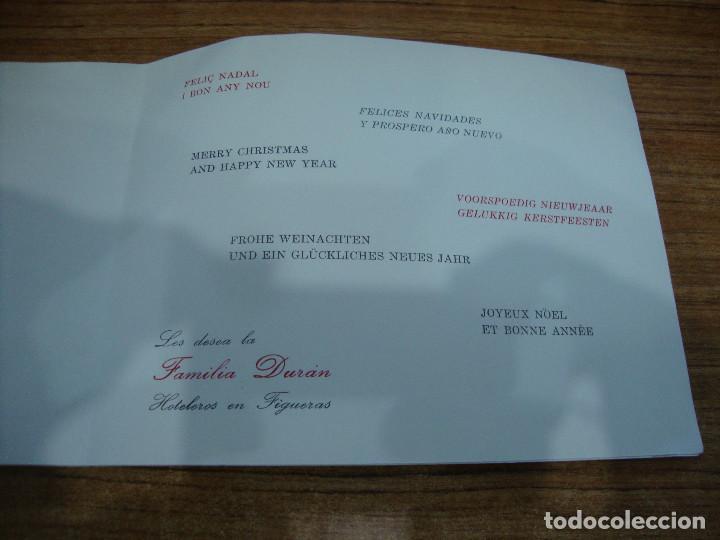 Postales: (ALB-TC-70) RARA FELICITACION Y UNICA EN TC.FELICITACION FAMILIA DURAN HOTELES DIBUJO DALI - Foto 3 - 161443574