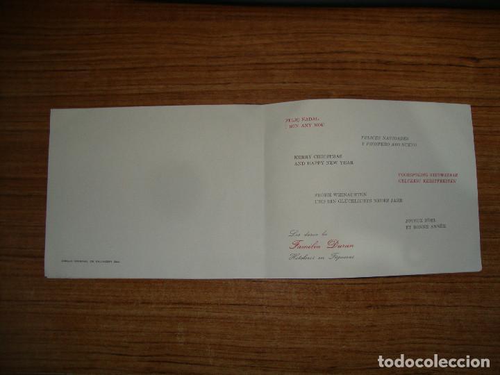 Postales: (ALB-TC-70) RARA FELICITACION Y UNICA EN TC.FELICITACION FAMILIA DURAN HOTELES DIBUJO DALI - Foto 4 - 161443574