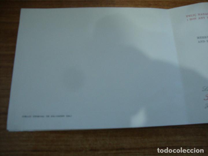 Postales: (ALB-TC-70) RARA FELICITACION Y UNICA EN TC.FELICITACION FAMILIA DURAN HOTELES DIBUJO DALI - Foto 5 - 161443574