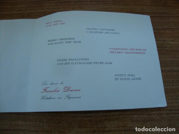 Postales: (ALB-TC-70) RARA FELICITACION Y UNICA EN TC.FELICITACION FAMILIA DURAN HOTELES DIBUJO DALI - Foto 6 - 161443574
