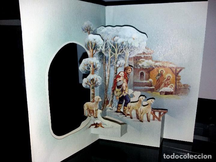 FELICITACION TROQUELADA NAVIDAD LOPEZ * PASTORES CAMINO DEL PORTAL *1979 (Postales - Postales Temáticas - Navidad)