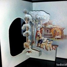 Postales: FELICITACION TROQUELADA NAVIDAD LOPEZ * PASTORES CAMINO DEL PORTAL *1979. Lote 161526198