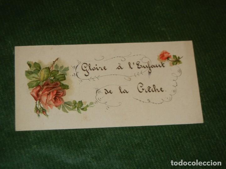 ANTIGUA TARJETA NAVIDAD - ROSAS - ESCRITA 1927 (Postales - Postales Temáticas - Navidad)