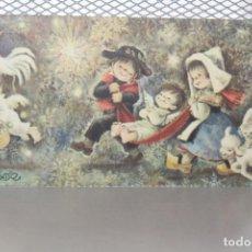 Postales: POSTAL SENCILLA DE NAVIDAD DE FERRÁNDIZ. REF. 352. 14 X 7 CM. INFORMACIÓN. Lote 163307718