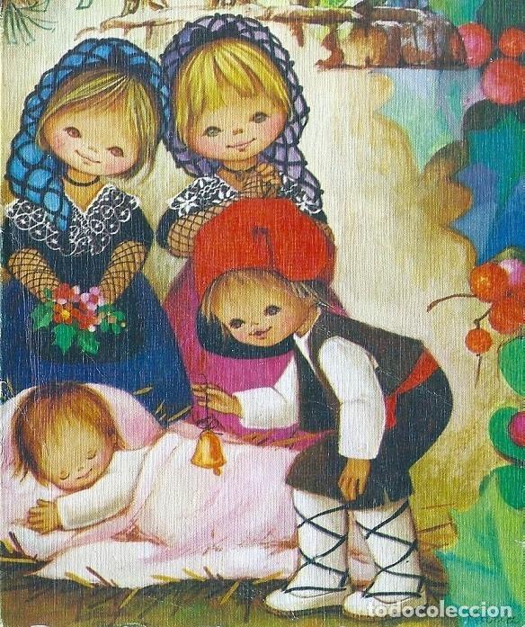 0998F - EDICIONES ORTIZ MADRID- SERIE X518 - DIPTICA 16,5X11 CM - ILUSTRA MARIA (Postales - Postales Temáticas - Navidad)