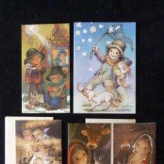 Postales: LOTE DE 5 FELICITACIONES DE NAVIDAD AÑOS 70. Lote 165503666