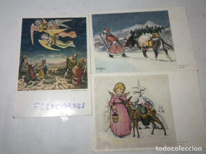 ORIGINAL ANTIGUO TARJETAS NAVIDAD (Postales - Postales Temáticas - Navidad)