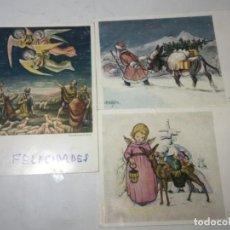 Postales: ORIGINAL ANTIGUO TARJETAS NAVIDAD. Lote 166195346