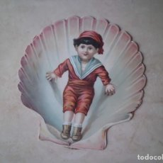 Postales: MUY RARA POSTAL INGLESA DE NAVIDAD FF, SIGLO XIX. Lote 166642990