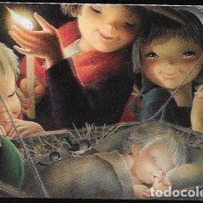 Postales: FELICITACION NAVIDAD FERRÁNDIZ * NIÑOS ADORANDO A JESÚS *. Lote 167193080