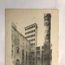 Postales: NAVIDAD. BARCELONA FELICITACIÓN NAVIDEÑA, PLAZA DEL REY. LITOGRAFÍA (H.1950?). Lote 167474648