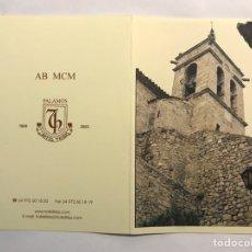 Postales: NAVIDAD. FELICITACIÓN NAVIDEÑA HOTEL TRÍAS. PALAMOS (A.2003). Lote 167475057