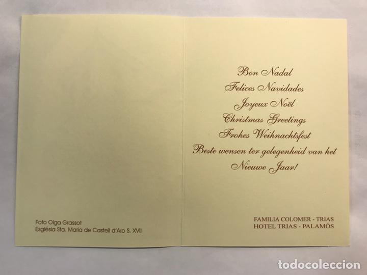 Postales: NAVIDAD. Felicitación navideña Hotel Trías. PALAMOS (a.2003) - Foto 2 - 167475057