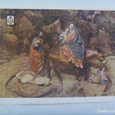 Postales: TARJETA DE FELICITACION DE NAVIDAD CON FOTO DE FIGURAS DEL BELEN DE SALZILLO. Lote 206395356