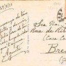 Postales: FELICITACIÓN DE NAVIDAD DEL AÑO 1913, PAISAJE NEVADO, VER EL DORSO. Lote 167847212
