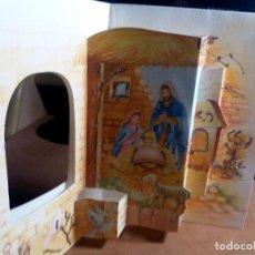 Postales: FELICITACION TROQUELADA NAVIDAD * NACIMIENTO * ADORNADA CON PURPURINA. Lote 168380652