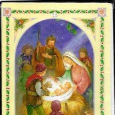 Postales: FELICITACION NAVIDAD * NACIMIENTO * ( CON SOBRE Y FUNDA )GOLDEN SPAIN. Lote 168423836