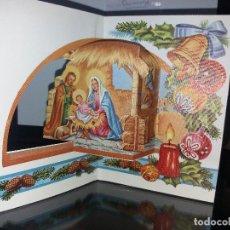 Cartes Postales: FELICITACION TOQUELADA NAVIDAD * NACIMIENTO * 1978. Lote 219859770