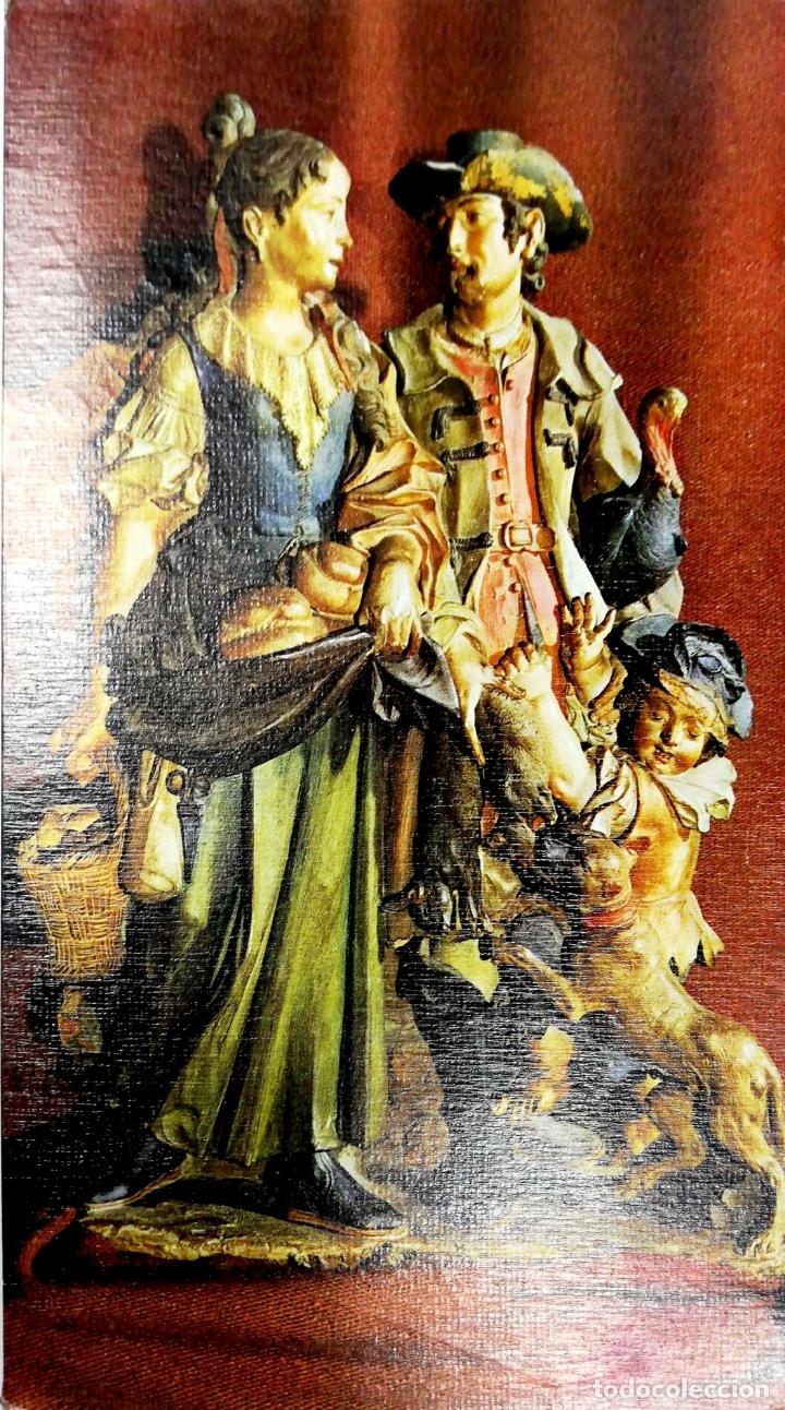 TARJETA DE FELICITACIONES. CHRISTMAS. FIGURAS DE NACIMIENTO. OBRA PORTUGUESA DEL S. XVIII. (Postales - Postales Temáticas - Navidad)