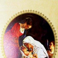 Postales: TARJETA DE FELICITACIONES. CHRISTMAS. VIRGEN Y NIÑO. MEDIDAS : 21 X 12.5 CM APROX.. Lote 169386448