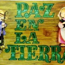 Postales: TARJETA DE FELICITACIONES. CHRISTMAS. PAZ EN LA TIERRA. MEDIDAS : 8.5 X 17 CM APROX.. Lote 169386748