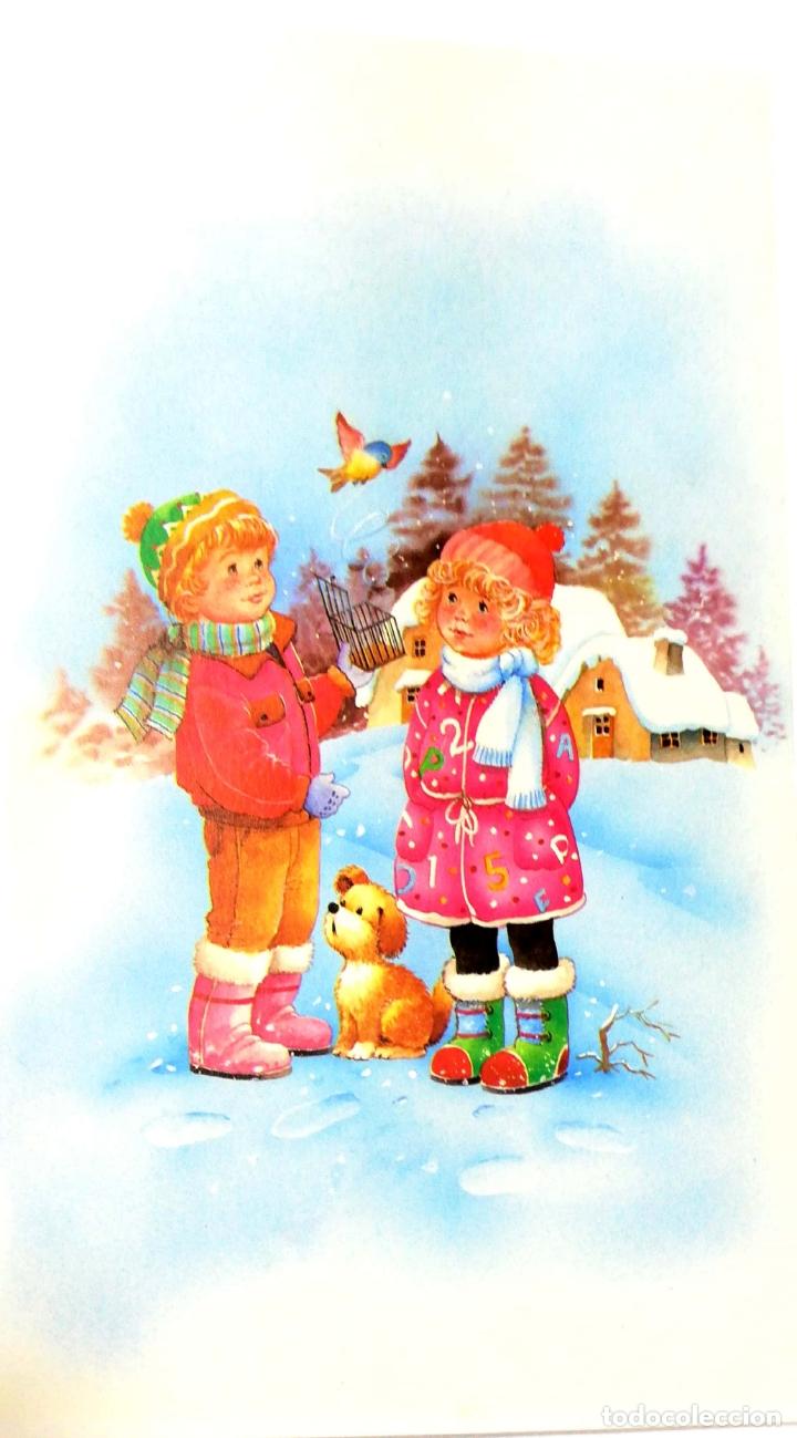 TARJETA DE FELICITACIONES. CHRISTMAS. MEDIDAS : 18.5 X 11 CM APROX. (Postales - Postales Temáticas - Navidad)