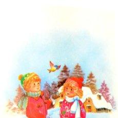 Postales: TARJETA DE FELICITACIONES. CHRISTMAS. MEDIDAS : 18.5 X 11 CM APROX.. Lote 169389508