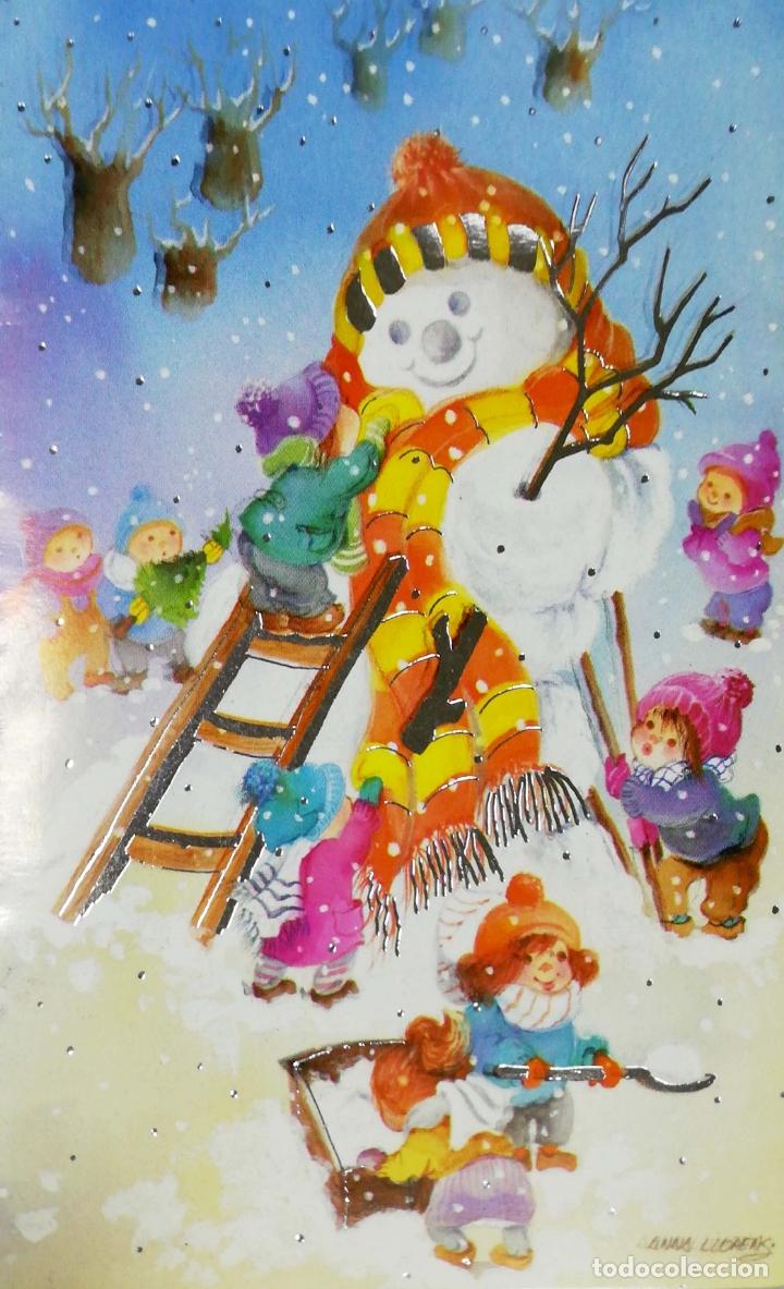 TARJETA DE FELICITACIONES. CHRISTMAS. MEDIDAS : 17 X 12 CM APROX. (Postales - Postales Temáticas - Navidad)