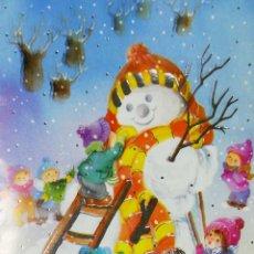 Postales: TARJETA DE FELICITACIONES. CHRISTMAS. MEDIDAS : 17 X 12 CM APROX.. Lote 169391400