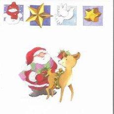 Postales: FELICITACION NAVIDAD ANNA LLORENS * PAPÁ NOEL CON CERVATILLO * EDICROMO. Lote 169574024