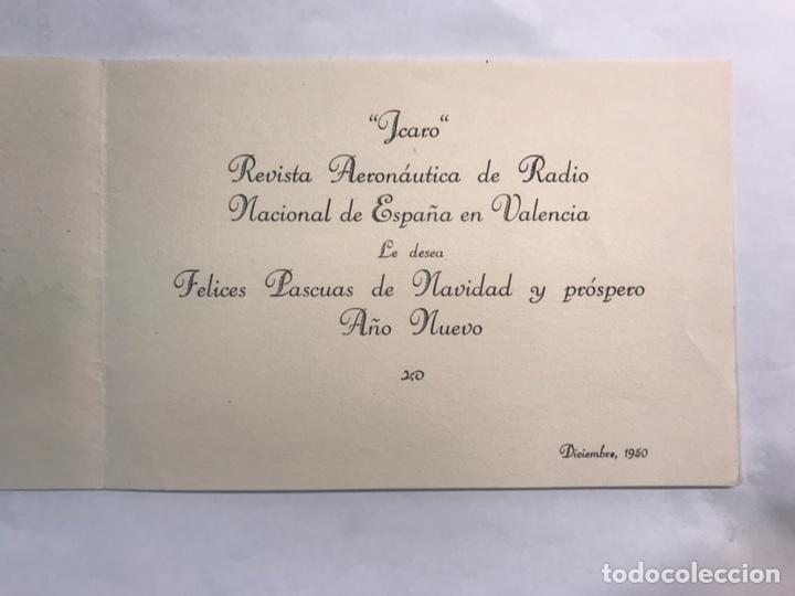 Postales: NAVIDAD. Valencia, Felicitación Navideña ICARO. Revista Aeronáutica de Radio Nacional... - Foto 2 - 169613073
