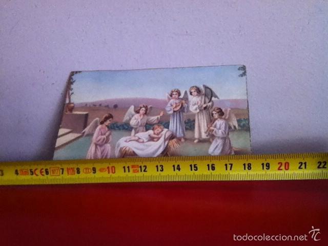 POSTAL NAVIDAD SENCILLA ( AÑOS 40 ) 14X8 CM (Postales - Postales Temáticas - Navidad)