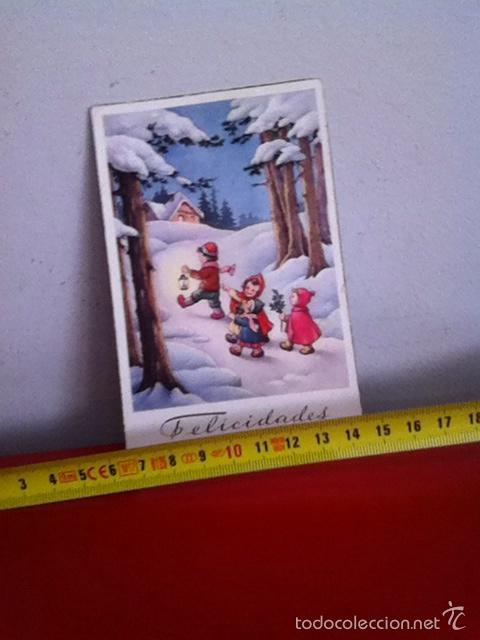 POSTAL NAVIDAD ( AÑOS 50 ) SENCILLA 14X8 CM (Postales - Postales Temáticas - Navidad)