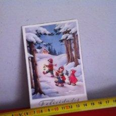 Postales: POSTAL NAVIDAD ( AÑOS 50 ) SENCILLA 14X8 CM. Lote 169673697
