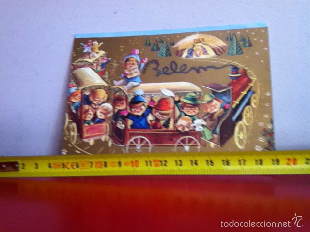 J.LUIS LÓPEZ ( FOURNIER) POSTAL NAVIDAD DIPTICO ( AÑOS 60 ) 16X12 CM (Postales - Postales Temáticas - Navidad)