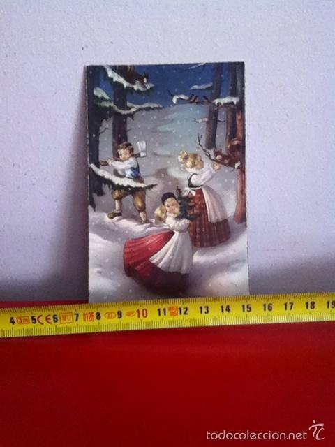 POSTAL NAVIDAD SENCILLA ( AÑOS 50) 13X8CM (Postales - Postales Temáticas - Navidad)