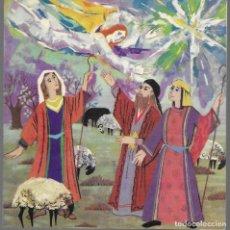 Postales: FELICITACION NAVIDAD JULITXU * ANGEL ANUNCIANDO A LOS PASTORES * 1965 ( 14 X 14,50). Lote 170441172