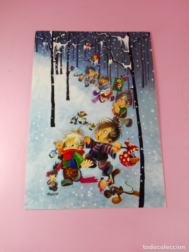 Postales: Posta-Felicitación-(Navidad?)-1960-CyZ-Impoluta-Antigua-ver fotos - Foto 3 - 170987867