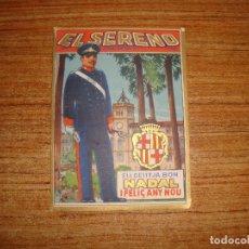 Postales: (ALB-TC-103) FELICITACION EL SERENO. Lote 170992142