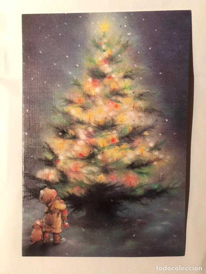 POSTAL DÍPTICA LISI MARTIN NAVIDAD NO ESCRITA EDICIÓN PICTURA GRAPHICA PRINTED SWEDEN NÚM. 092.8085 (Postales - Postales Temáticas - Navidad)