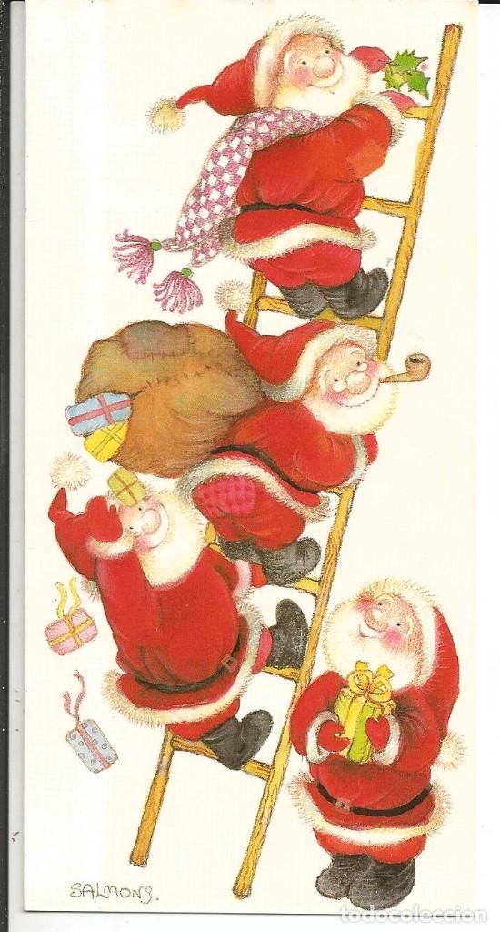 POSTAL NAVIDAD SALMONS - BUSQUETS 02.03.335.1 - DIPTICA, 16,5X8CM (Postales - Postales Temáticas - Navidad)