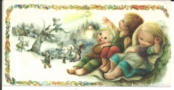 POSTAL NAVIDAD LISI MARTIN - SABADELL AVET 02.03.102.1 - DIPTICA, 16,5X8,5 CM (Postales - Postales Temáticas - Navidad)